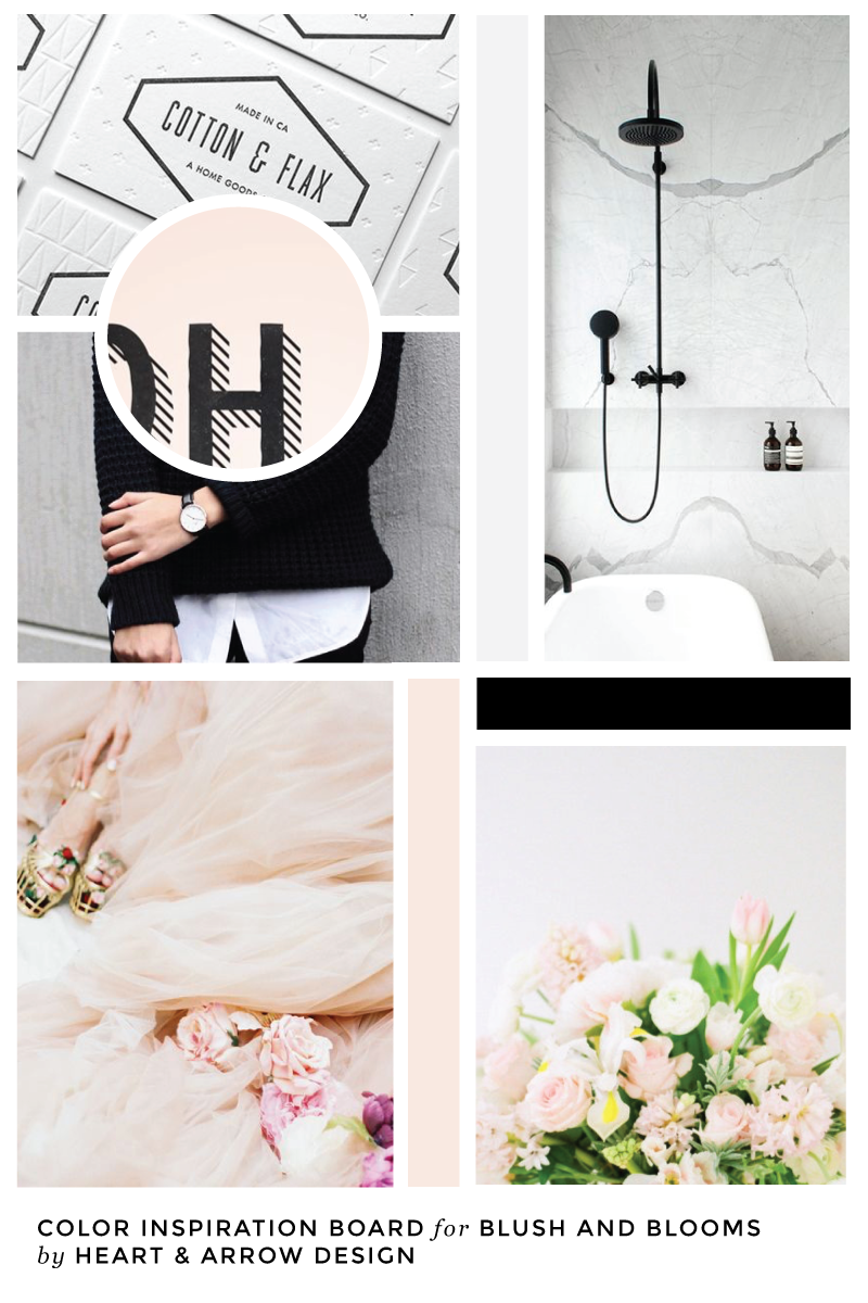 Blush and Blooms Color Inspiration